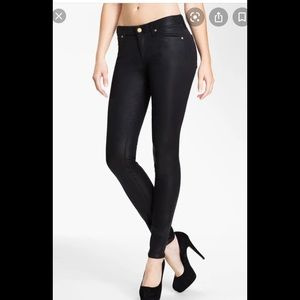 7 For All Mankind High Rise Skinny Black Jeans 26